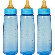 Gerber first essentials fashion tints bottle 9oz, 3 pk, med flow, latex -