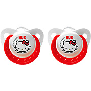 Hello kitty orthodontic pacifier sz2, 2pk, silicone -