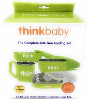The Complete BPA Free Feeding Set Lt Green -