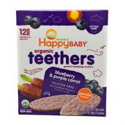 Gentle Teethers Organic Teething Wafers Blueberry & Purple Carrot  Case Pack -