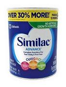 Similac Advance Milk-Based Powder Infant Formula with Iron -