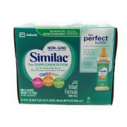 Similac OptiGRO NON-GMO for Supplementation Ready To Feed Bottle - For Breastfeeding Moms Who Choose to Introduce Formula, 0-12 Months,   -