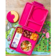 OmieBox Kids Thermos-Insulated Bento Box Pink Berry -