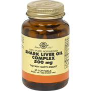 Shark Liver Oil Complex 500 mg Softgels providing Alkoxylglycerols and Squalene