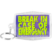 Keyper Keychains Condom 'Break in case of emergency' -