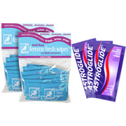 Buy 2 Crazy Girl Femme Wipes & Get 3 Single packs of Astroglide Personal Lubricant for FREE -