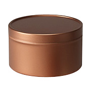Round Metal Tin with Silver Finish -