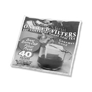 Unbleached Coffee & Tea Disposable 1 Cup Filters -