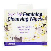 Super Soft Feminine Cleansing Wipes Scented -