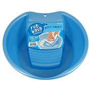 Inomata Rub Wash 3116 Plastic Laundry Pail Blue -