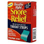 Snore Relief Wintergreen Throat Strips -