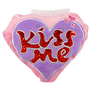 Hanging Kiss Me Plush Heart -