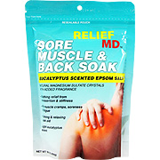 Relief MD Sore Muscle & Back Soak Eucalyptus Epsom Salt -