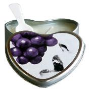 Grape Edible Heart Suntouched Candle -