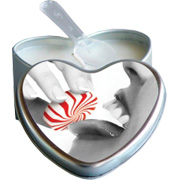 Mint Edible Heart Suntouched Candle -
