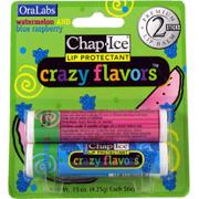 Chap Ice Lip Protectant Crazy Flavors Watermelon & Blue Raspberry -