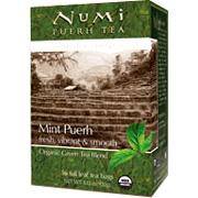Green Blend Puerh Organic Mint Tea Mint -