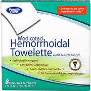 Medicated Hemorrhoidal Towellete -