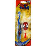 Spiderman Toothbrush Travel Kit -
