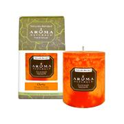 Clarity Orange Pillar Candle -