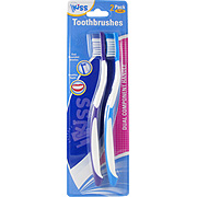 Kiss Soft Toothbrushes Purple & Blue -
