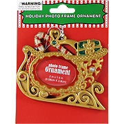 Holiday Photo Frame Sleigh Ornament -