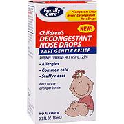 Children's Decongestant Nose Drops -